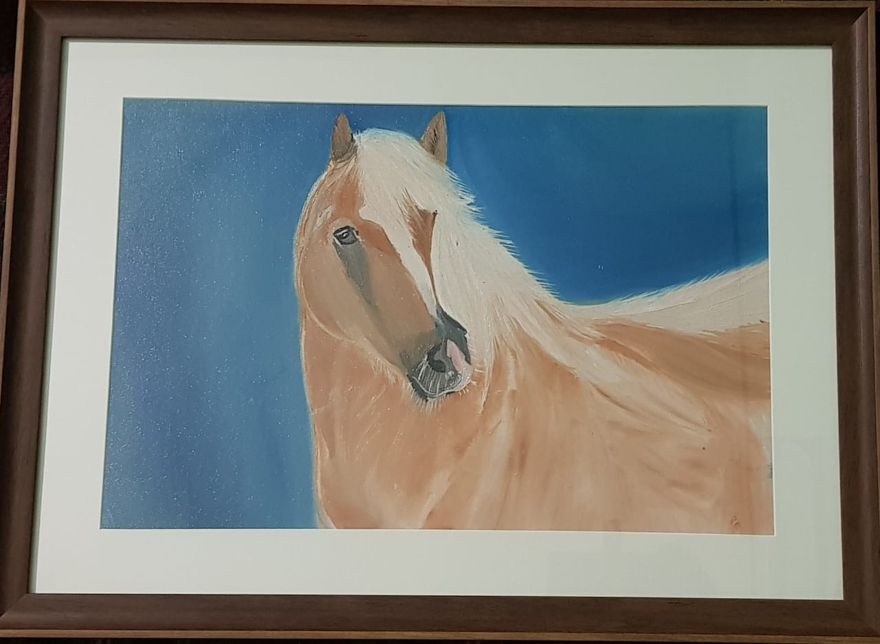 Horse Painting 100 Handmade Oil Painting On Canvas Size 58 Cm X 47 Cm Geesu Art Gallery